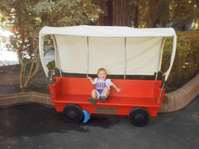 Brianna in the wagon
